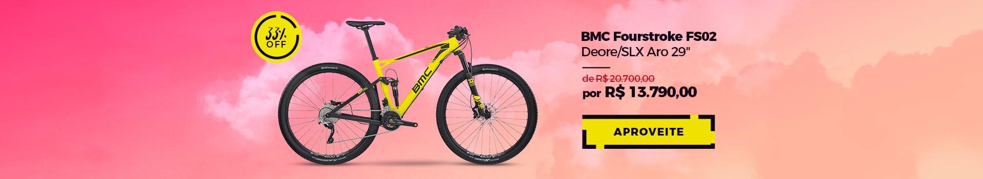 """Promoção BMC Fourstroke FS02 Deore/SLX Aro 29"""""""