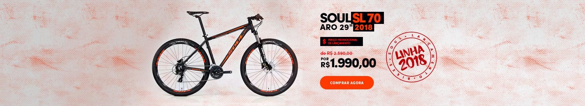 """Promoção de lançamento Bike Soul SL 70 Aro 29"""" 2018"""