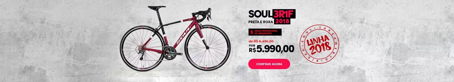 Promoção de lançamento Bike Soul 3R1F 2018