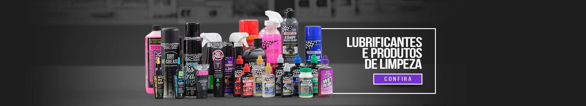 Lubrificantes e produtos de limpeza