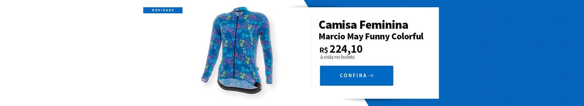 Camisa Feminina Marcio May Funny Colorful