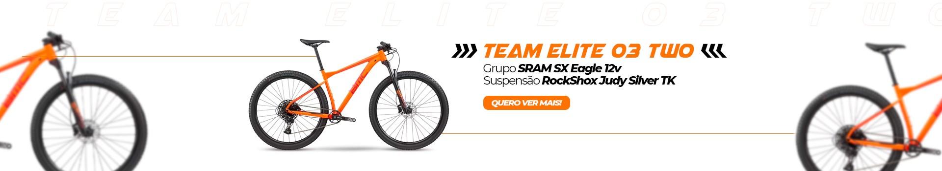 "BIKE BMC TEAM ELITE 03 TWO SRAM SX EAGLE ARO 29"" 2020 LARANJA"