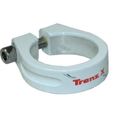Abraçadeira de selim Tranz X 31.8mm - Bco
