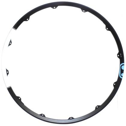 """Aro Bike 29"""" Crank Brothers Ciclocross Zinc 3 Preto e Branco Com Decal Azul"""
