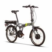 Bicicleta Elétrica Dobrável Sense Easy 3v Aro 20 2020 Cinza e Neon