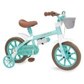Bicicleta Infantil Aro 12 Nathor Antonella Baby Verde Água