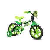Bicicleta Infantil Aro 12 Nathor Black Verde e Preta