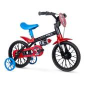 Bicicleta Infantil Aro 12 Nathor Mechanic Preta e Vermelha