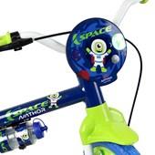 Bicicleta Infantil Aro 12 Nathor Space Azul e Verde