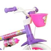 Bicicleta Infantil Aro 12 Nathor Violet com Cestinha Violeta e Lilas
