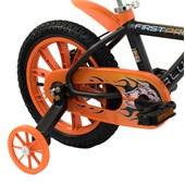 Bicicleta Infantil Aro 14 Nathor First Pro Preta e Laranja