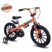 Bicicleta Infantil Aro 16 Nathor Extreme Laranja e Preta