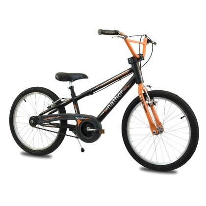 Bicicleta Infantil Aro 20 Nathor Apollo Preta e Laranja