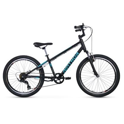 Bicicleta Infantil Aro 24 Nathor Apollo Preta e Azul