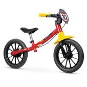 Bicicleta Infantil Equilíbrio Aro 12 Nathor Balance Fast Vermelha