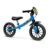 Bicicleta Infantil Equilíbrio Aro 12 Nathor Balance Verde Preta e Azul