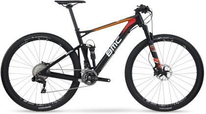 "Bike BMC Fourstroke FS01 XT DI2 Aro 29"" Preta Laranja e Vermelha"