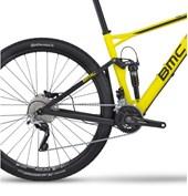 """Bike BMC Fourstroke FS02 Deore/SLX Aro 29"""" Amarela e Preta"""