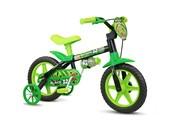 Bike Infantil Aro 12 Nathor Black Verde e Preta