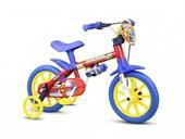 Bike Infantil Aro 12 Nathor Fireman Vermelha Amarela e Azul