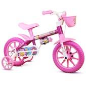 Bike Infantil Aro 12 Nathor Flower com Cestinha Rosa