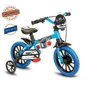 Bike Infantil Aro 12 Nathor Veloz Azul e Preta