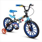 Bike Infantil Aro 16 Nathor Tech Boys Preta e Azul