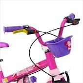 Bike Infantil Aro 16 Nathor Top Girls com Cestinha Rosa