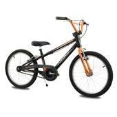 Bike Infantil Aro 20 Nathor Apollo Preta e Laranja