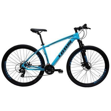 "Bike Lotus Aluminium 21v Aro 29"" 2020 Azul e Preta"