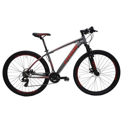 """Bike Lotus Aluminium 21v Aro 29"""" 2020 Cinza e Vermelha"""