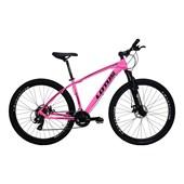 "Bike Lotus Aluminium 21v Aro 29"" 2020 Rosa e Preta"