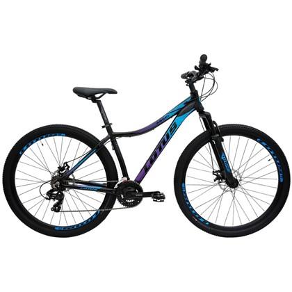 "Bike Lotus Angel 21v Aro 29"" 2021 Preta Azul e Rosa"