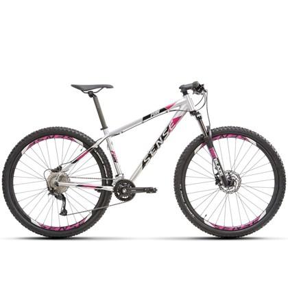 Bike Sense Fun Evo 18v Aro 29 2021/22 Prata e Roxa
