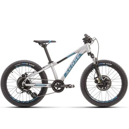 Bike Sense Grom Aro 20 2021/22 Prata e Azul