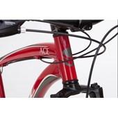 "Bike Soul Ace V-Brake Aro 26"" 2017 Vermelha e Cinza"