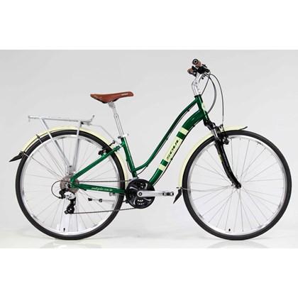 """Bike Soul Amsterdam Retrô Aro 700"""" 2018 Verde e Bege"""