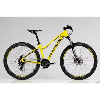 "Bike Soul Flora Aro 27,5"" 2018 Amarela e Preta"