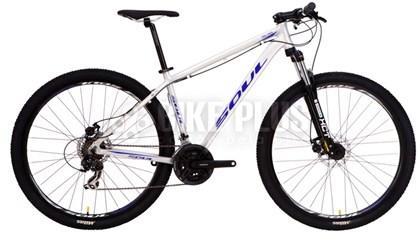 "Bike Soul SL 70 Aro 29"" 2017 Prata Azul e Branca"