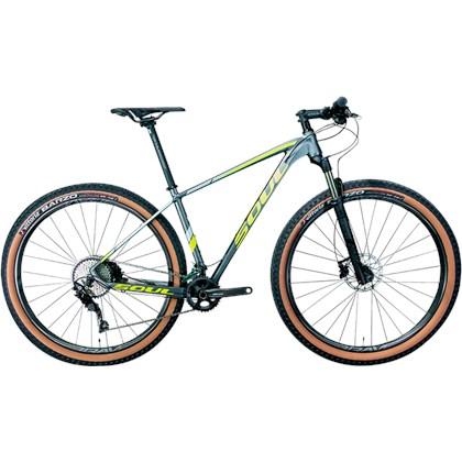 Bike Soul SL 729 Deore 20v Aro 29 2020 Grafite Amarela e Prata