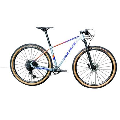 Bike Soul SL 729 SX Eagle 12v Aro 29 2020 Cinza Azul e Laranja