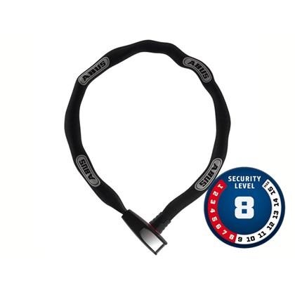 Cadeado Para Bike Abus Nível 8 Com Corrente de Aço 8807k/110 BK Com Revestimento