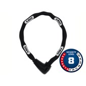 Cadeado Para Bike Abus Nível 8 Com Corrente de Aço 9808/85 BK Preto
