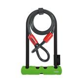 Cadeado para Bike Abus U-Lock Ultra 410 Verde com Cabo de Aço