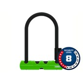 Cadeado para Bike Abus U-Lock Ultra Mini Nível 8 Verde + Cabo