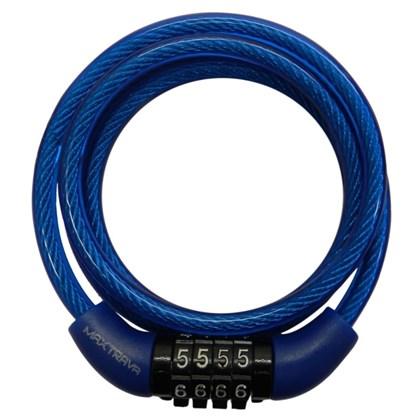 Cadeado Para Bike MAX TRAVA Pequeno com Segredo Azul