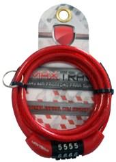 Cadeado Para Bike MAX TRAVA Pequeno com Segredo Vermelha