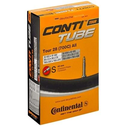 Câmara de ar Continental Tour CycloCross Aro 700 X 28/37 Bico Fino S42