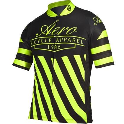 Camisa Ciclismo Asw Active Legacy Preta e Neon