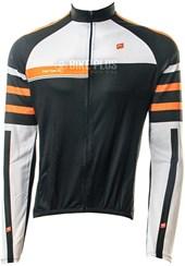 Camisa Ciclismo Barbedo Stripes Manga Longa Preta e Laranja